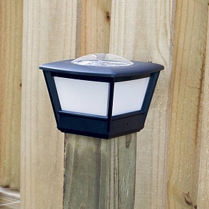 Fence post solar light - COACH Solar Post Cap Light (2pcs). Coach light styling with high light output