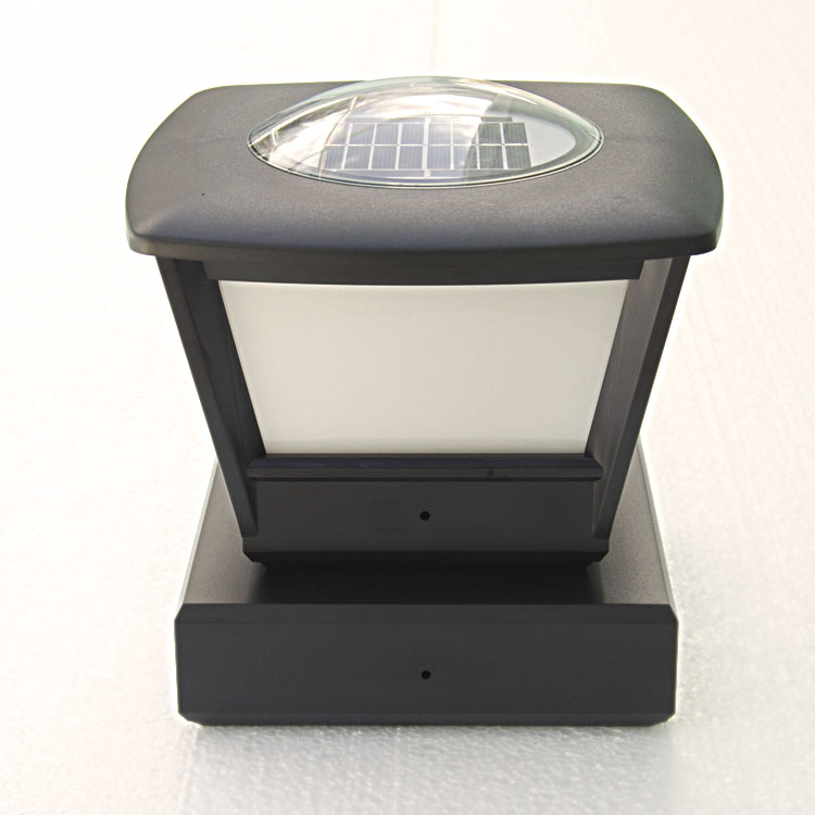 fence post solar light by free light 5x5 and 6x6 post cap. Black Bedroom Furniture Sets. Home Design Ideas