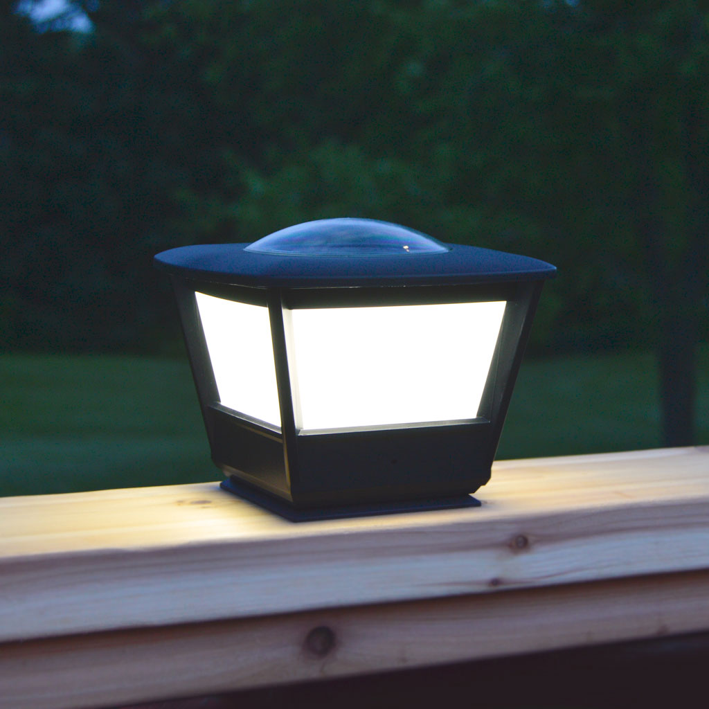 Solar lights flat rail garden deck patio solar lighting for Flat pack garden decking
