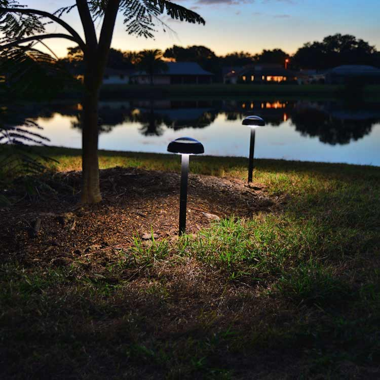 Solar Path Lights Part - 33: Pathway U0026 Garden Solar Light - ORB2 (2pcs). Natural White Pathway And Garden