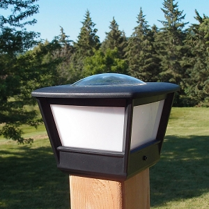 Fence Post Solar Light - COACH4 Solar Post Cap Light (2pcs). Solar light with high light output.