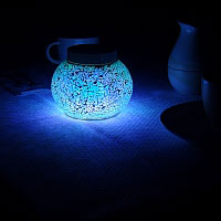 ARUBA Blue Solar Table Light. Simply stunning sparkle day or night
