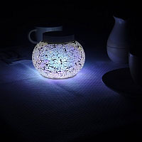 BELIZE 'White' Solar Table Light. Night time sparkle around your patio.