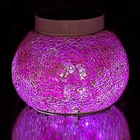 BERMUDA Pink Solar table light. Add pink sparkles to your patio tables