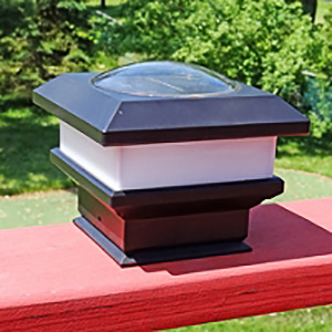 Flat rail solar deck patio light (2pcs). Mounts on any flat surface PCL-FR