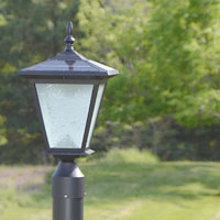 Post Mount Solar Light - GALAXY Black. Great solar light for entrance pillars and brick columns.
