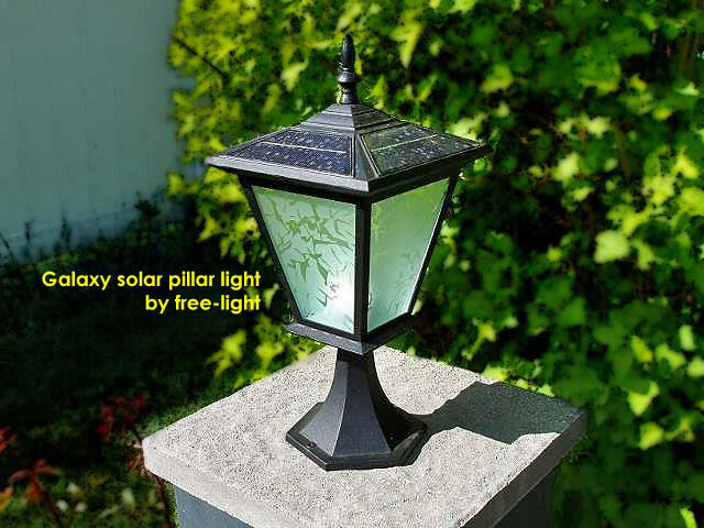 Pillar Or Column Mount Solar Lights Galaxy Solar
