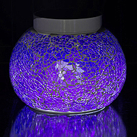 PROVENCE Violet Solar table light. Add vibrant violet lights to your outdoor decor