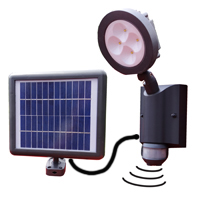 SENTINEL Bright Solar Security Light. Lights your way when you need it