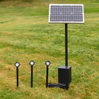 REMOTE Solar Panel (RSP) landscape lighting system. Flexible and powerful
