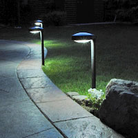 DISC Solar Pathway Light (2pcs). Lights only your path, no wasted light