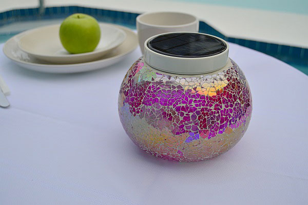 Table Solar Light   BERMUDA Pink. Add Pink Sparkles To Your Patio Tables