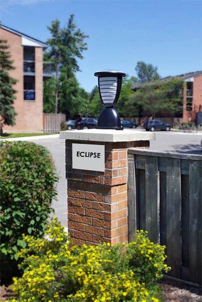 Eclipse Solar Light For Brick Columns Decks Pathways