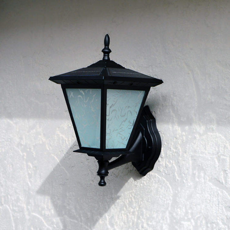 Wall Mounted Deck Lights : Wall Mount Solar Light GALAXY by Free-Light! Great Solar Light for Entrance Garage Porch.