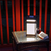 LUNA Portable Solar Table Lantern. Easy on the eyes soft white light