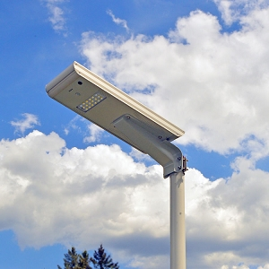 Solar Driveway Parking Area Light RA60. Wide beam of solar light. Year round solar lighting.