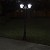 Solar courtyard light - GALAXY BLACK 2 head solar courtyard/driveway  light with classical looks
