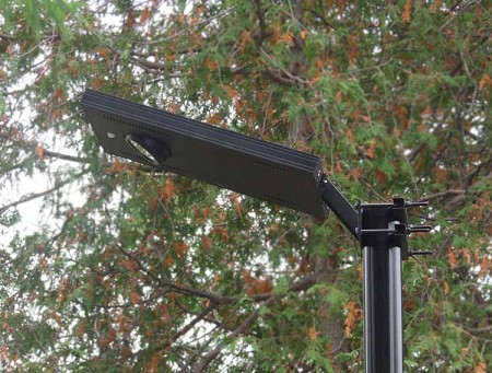 RA4 Solar Driveway Parking Lot Light. Installs in minutes, no wires.