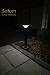 Pathway Solar Light - SATURN. 1M tall solar walkway pathway light. Up to 30' of light