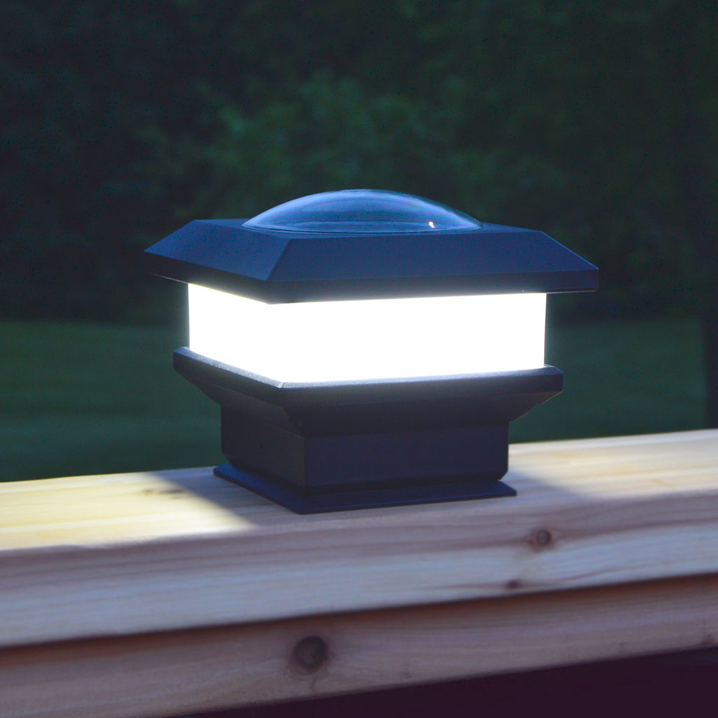 Flat Rail Deck Patio Solar Lights 12 Hours Of Light With Battery Protection