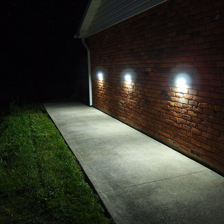 Side Building Fence Motion Solar Light