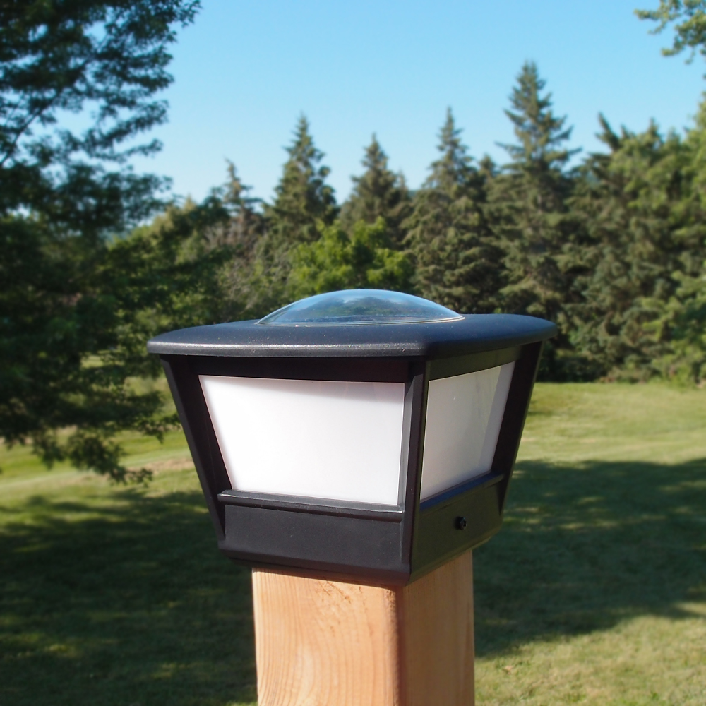 Post: 4x4 Fence Post Solar Light By Free-Light. 4x4 Post Cap