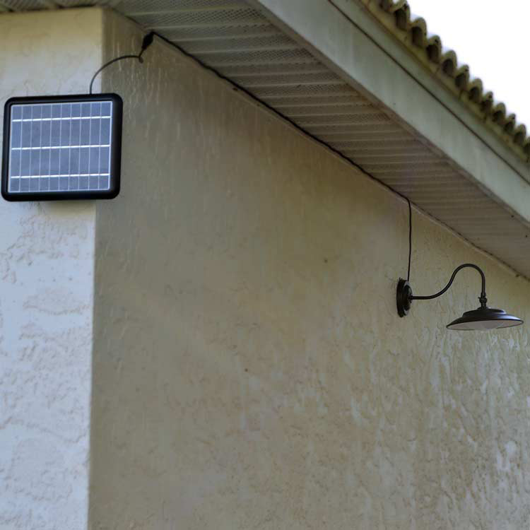 Henley Gooseneck Solar Wall Light Motion Sensor Wall Light
