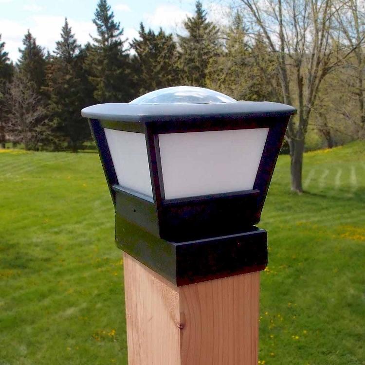 4x6 Fence Post Solar Light By Free Light 4x6 Post Cap
