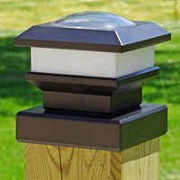 solar light for fence posts 6 x 6 square