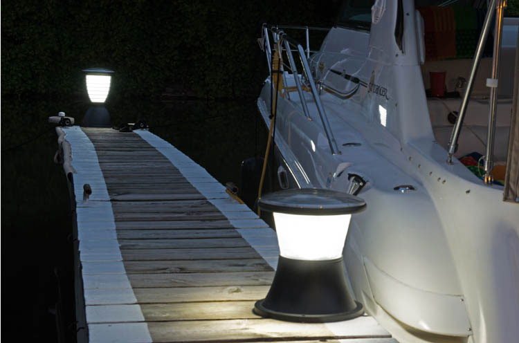 Solar light for dock and deck