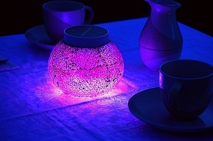 Pink Solar Table Lights Reflective Glass