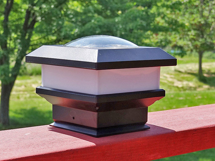 Flat Rail Deck Patio Solar Lights 12 Hours Of Solar Light