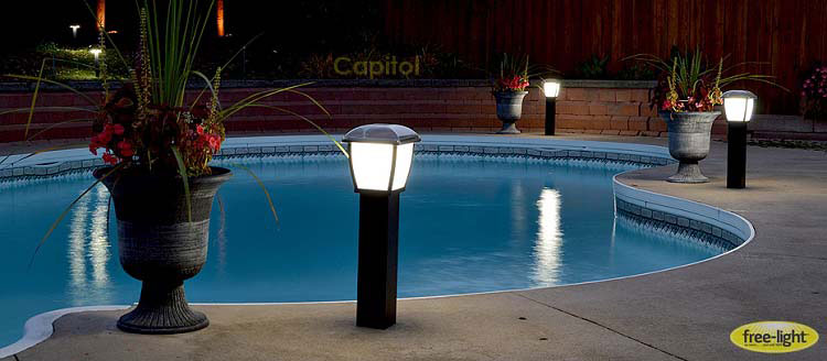 pool lighting deck solar lighting