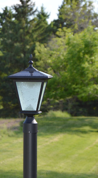 Galaxy Black Post Mount Solar Light Great For Entrance Pillars And Brick Columns