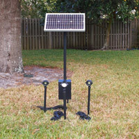 solar lighting panel for dark spots around your home or cottage