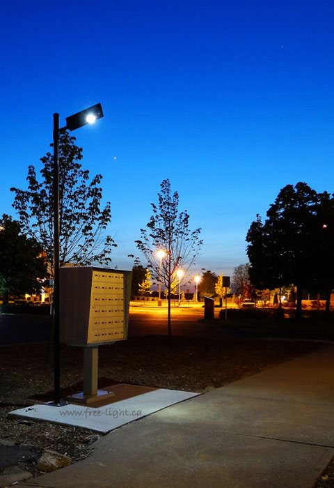 RA2-driveway parking lot solar light by free-light