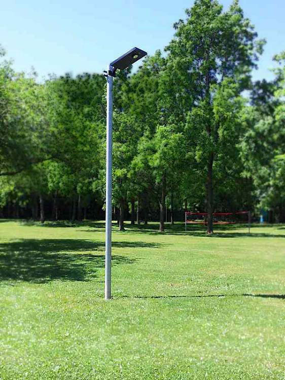 demo unit driveway parking lot solar light - no wires!