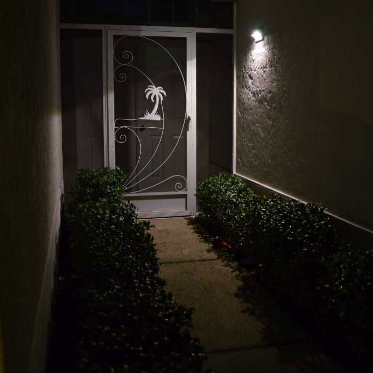Solar Light Front Door Entrance Wall