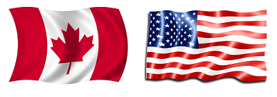 Canada and U.S. flags