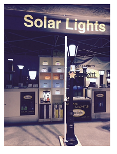 solar lighting from free light at the indsor Home and Garden Show