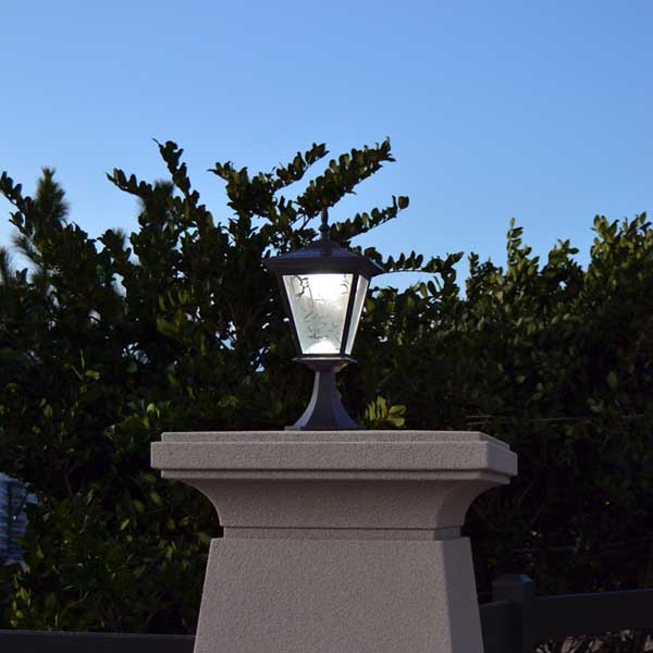 galaxy column mount solar light from free-light