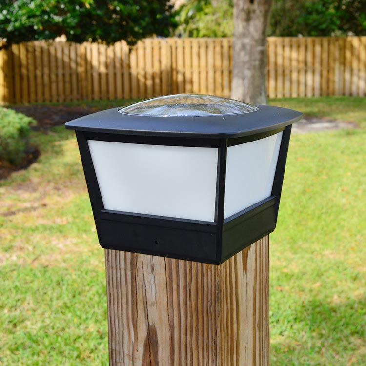 "5.5"" Fence Post Cap Solar Light By Free-Light. 5.5x5.5"