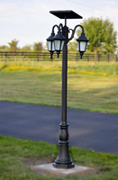 Outdoor Solar Light Colonial Styling