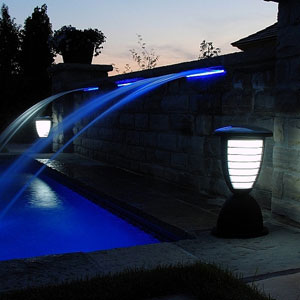 Highlight Pool with Solar Lights