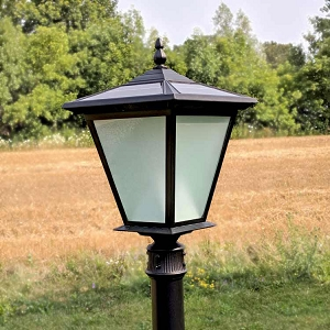 GALAXY PLUS Solar Post Mount Light - on for 10 hours with up to 30' of illumination