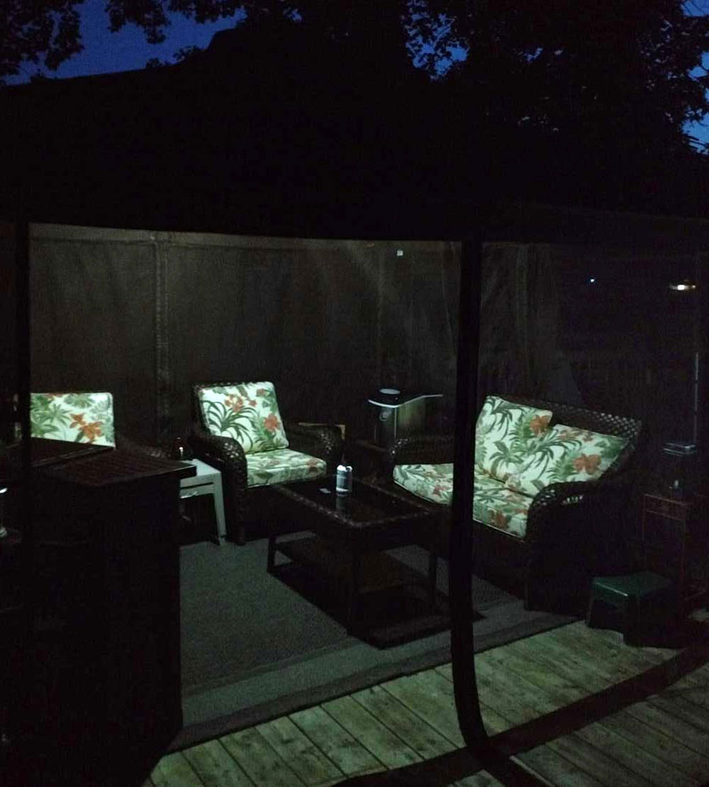 Gazebo Shed Porch Solar Light - Works Indoor & Outdoor