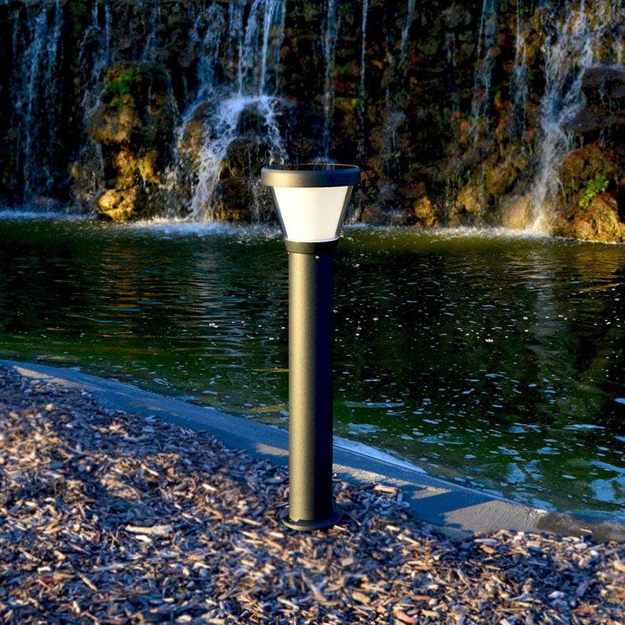 Bollard Style Solar Light