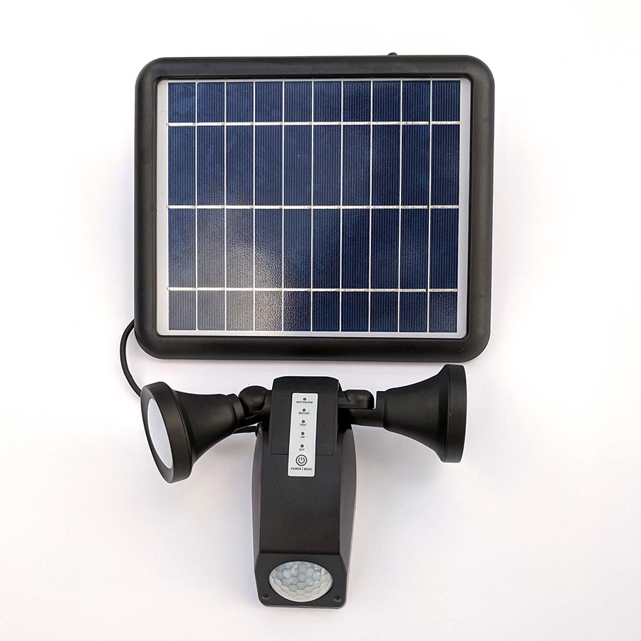 The Guardian Solar Security Light with dual independent light heads