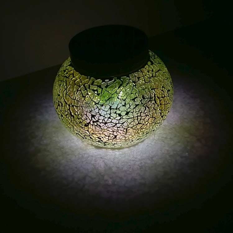IBIZA Solar Table Light - IBIZA Green. Night Time Apple Green Sparkle Around Your Patio.