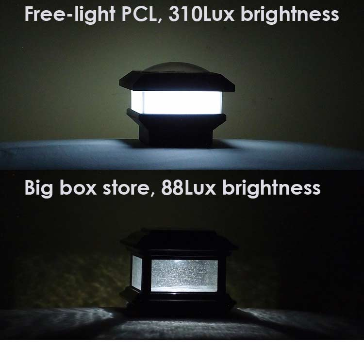 Brightness Comparison solar lights